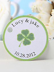 cheap -Personalized Favor Tag - Green Grass (Set of 36)