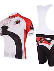 Kooplus Homens Manga Curta Camisa com Bermuda Bretelle Moto Calções Bibes Camisa/Roupas Para Esporte Conjuntos de Roupas, Secagem Rápida,