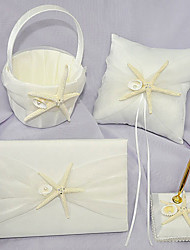 cheap -Beach Theme Collection Set 53 Starfish and Seashell Ribbons Satin