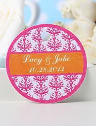 baratos -etiqueta de favor personalizada - impressão floral rosa (conjunto de 36) favores de casamento