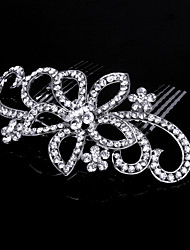 cheap -Crystal Fabric Alloy Tiaras Hair Combs 1 Wedding Special Occasion Party / Evening Outdoor Headpiece