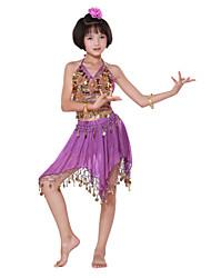 povoljno -Trbušni ples Outfits Seksi blagdanski kostimi Šifon Šljokice Kovanice Bez rukávů Sudačko Top Suknja