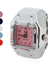 cheap -Women's Elegant Square Style Alloy Analog Quartz Ring Watch (Assorted Colors) Cool Watches Unique Watches