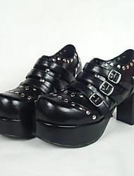 Schuhe Punk Lolita Stöckelschuh Schuhe einfarbig 8 CM Für PU - Leder/Polyurethan Leder Polyurethan Leder