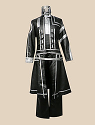 cheap -Inspired by D.Gray-man Allen Walker Anime Cosplay Costumes Cosplay Suits Patchwork Long Sleeves Coat Pants Pocket Badge For Men's