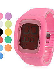 Relógio Unissexo de Silicone com LED Digital (Várias Cores)