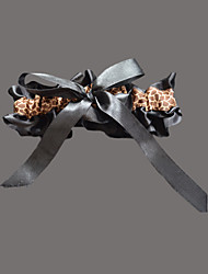 cheap -Satin Fashion Wedding Garter with Leopard Print Garters