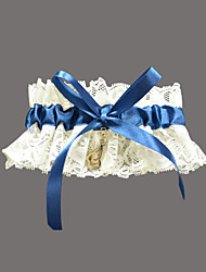 cheap -Lace Satin Classic Wedding Garter with Rhinestone Garters