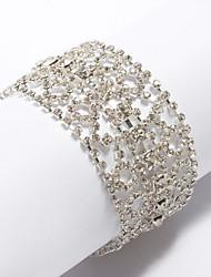 billige -smukke damer mosaik rhinestone armbånd