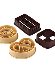 cheap -4pcs Set Round Square Heart Shape Cookie Mold DIY Buscuit Cutter Mould Baking Tools