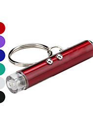 Key Chain Flashlights Lasers LED Laser Lumens 2 Mode - Batteries not included for Camping/Hiking/Caving Silver Purple Red Green Blue