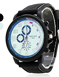 cheap -Men's Quartz Wrist Watch Japanese Hot Sale Rubber Band Charm Dress Watch Black