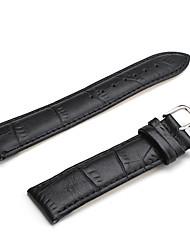 Unisex Genuine Leather Watch Strap 22MM(Black) Cool Watch Unique Watch Fashion Watch