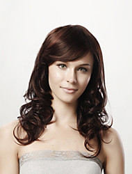 cheap -Synthetic Wig Curly Asymmetrical Haircut Human Hair Brown Wig Women's Short / Long / Mid Length Machine Made Natural Black