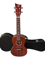 Недорогие -Шака - (ЛАК-1) массива красного дерева концерт Гавайи укулеле с концертом случае