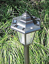 Недорогие -Солнечные сад газоном Путь Лампы (2-Pack)