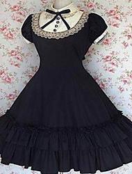 abordables -À manches courtes mi-longueur de coton Aristocrat Rétro style Lolita Robe