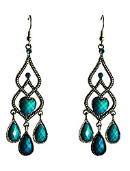 cheap -Vintage Droplight Shaped Turquoise Earrings Classical Feminine Style