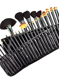 cheap -32pcs Goat/Pony hair Makeup Brushes set Professional Black blush/foundation brush shadow/eyeliner brush with Free Case cosmetic brush kit