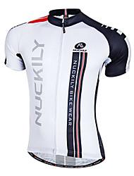 economico -Nuckily Maglia da ciclismo Per uomo Manica corta Bicicletta Maglietta/Maglia Top Abbigliamento ciclismo Asciugatura rapida Zip anteriore
