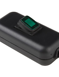 cheap -Water Resistant In-Line On/Off Rocker Switch with Green Light for Electric DIY (Black & Green)