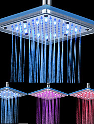 cheap -8-inch 12-LED Square Acrylic Ceiling Shower Head (Assorted Colors)