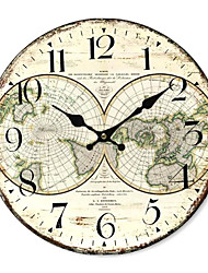 cheap -Country World Wall Clock