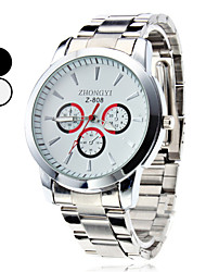 cheap -Men's Quartz Wrist Watch Hot Sale Alloy Band Charm Dress Watch Silver