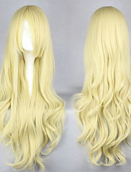 Cosplay Wigs Natsume Yuujinchou Cosplay Yellow Long Anime Cosplay Wigs 95 CM Male / Female