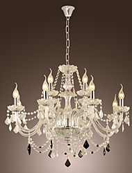 Chandelier ,  Rustic/Lodge Electroplated Feature for Crystal Glass Living Room Dining Room