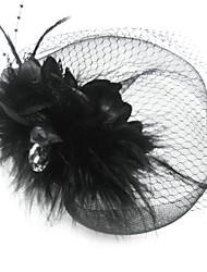 tyl fjer fuglkage slør hovedstykke klassisk feminin stil