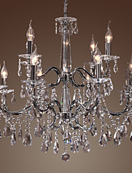 cheap -Chandelier Crystal Modern 2 Tiers Living 12 Lights