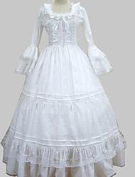 economico -Medievale Vittoriano Costume Per donna Vestiti Stile Carnevale di Venezia Vestito da Serata Elegante Vintage Cosplay Cotone Manica lunga