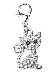cheap -Cat Tag Rhinestone Cartoon Alloy