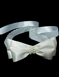 Women's Satin Imitation Pearl Headpiece-Wedding Special Occasion Headbands