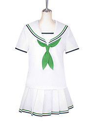 cheap -Inspired by Kuroko no Basket Aida Riko Anime Cosplay Costumes Cosplay Suits School Uniforms Patchwork Short Sleeves Shirt Blouse Bow For