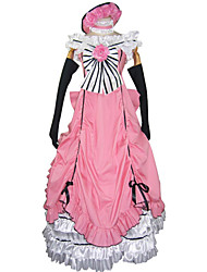 cheap -Inspired by Black Butler Ciel Phantomhive Anime Cosplay Costumes Cosplay Suits Dresses Patchwork Sleeveless Dress Gloves Bow More