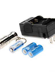 Torce LED / Torce LED 3 Modo 1000 Lumens Ricaricabile / Compatta / Taglia piccola Cree XM-L T6 CR123A Trustfire , Argento Acciaio Inox
