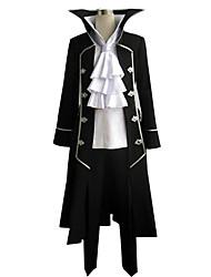 Inspireret af Pandora Hjerter Gilbert Nightray Anime Cosplay Kostumer Cosplay Kostumer Patchwork Langærmet Halsklud Frakke Trøje Bukser