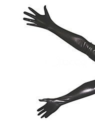 Gloves Ninja Zentai Cosplay Costumes Black Solid Gloves Spandex Unisex Halloween Christmas