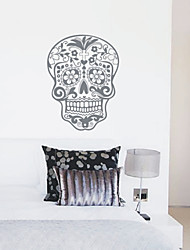 Aftagelige Skull Natur Wall Stickers