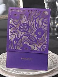 economico -classico invito a nozze di lusso con ritaglio floreale-set di 50/20