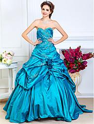 A-line abito senza spalline senza spalline lunghezza pavimento taffetà da ts couture®