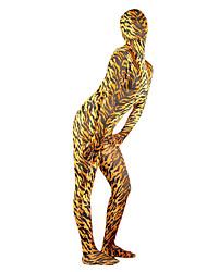 economico -Costumi zentai con motivi Tuta di pelle Costumi corpo intero Ninja Per adulto Costumi Cosplay Tinta unita Lycra e Spandex Per uomo Per donna Halloween / Elevata elasticità