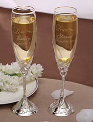 cheap -Personalized Toasting Fultes - LOVE Toasting Flutes Wedding Reception