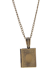 Book Shape Picture Box Necklace
