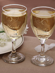 Personalized Classic Wineglass (Set of 2) Wedding Reception Beautiful