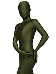 billige -Zentai Dragt Ninja Spandex Heldragt Cosplay Kostumer Ensfarvet Trikot / Heldragtskostumer / Zentai Spandex Lycra Herre / Dame Halloween / Høj Elasticitet