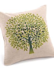 povoljno -1 kom Pamuk / Posteljina Navlaka za jastuk, Cvjetni print Zemlja