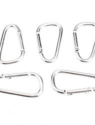 The Silver Aluminum Alloy Fashion Buckle for Klatring / Camping 006.012 (5 PCS / pose)
